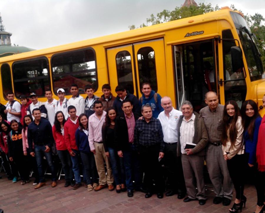 Servicio de transporte para alumnos del nivel medio superior